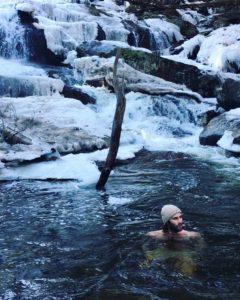 Sam in Ice Water